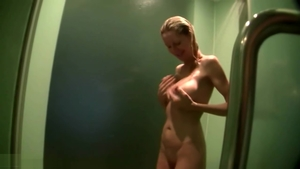 POV nailing next to skinny pornstar Emma Star in the shower