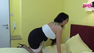 Threesome in hotel deutsch Tina Hot in sexy stockings HD