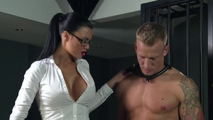 Muscled mistress domination anal fucking