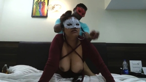 Dick sucking in company with thick Arab slut