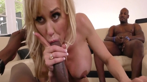 Rough fucking with Audrey Bitoni together with Brandi Love