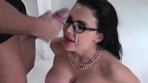 Rough hard pounding in company with big tits pornstar