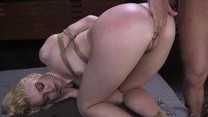 Blonde babe has a taste for bondage