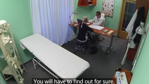 Blonde haired hard foreplay in hospital
