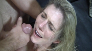 Bitch Cory Chase cum on face