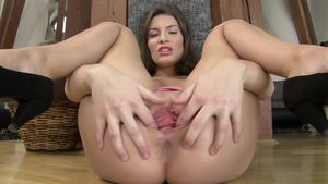Shaved Zena Little helps with pussy fucking