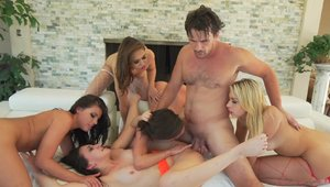 Gangbang together with Adriana Chechik & Carmen Caliente