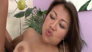Busty asian girl Jackie Lin rough facial doggystyle