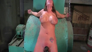 Busty Trina Michaels fetish waxed during interview