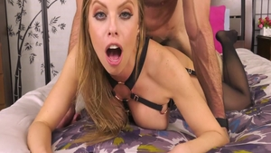 Blonde hair Britney Amber doggy video in HD