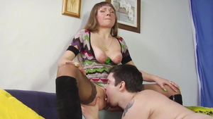 Homemade nailing starring saggy tits russian stepmom