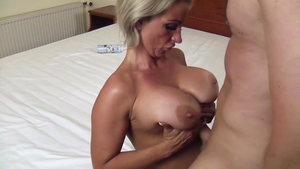 Titty fucking together with blonde hair Candy Samira