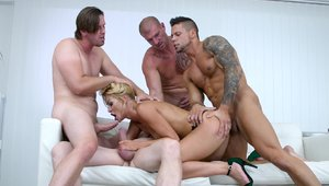 Gangbang in company with very hawt