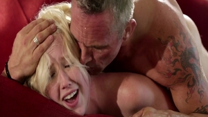 Samantha Rone in tandem with Markus Dupree riding a dick