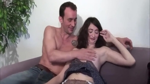 Ramming hard along with big butt french amateur