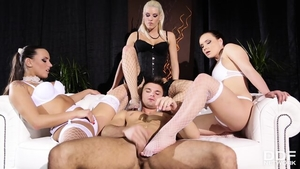 Group sex with classy blonde babe