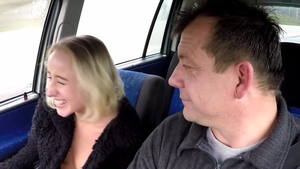 Creampied in taxi in HD