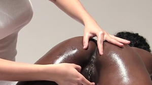 Oil nailing escorted by perfect body ebony amateur