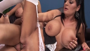 Large tits Sasha Rose & Kerry Louise cumshot video
