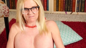 Blonde hair fucked in the butt big tits in glasses solo