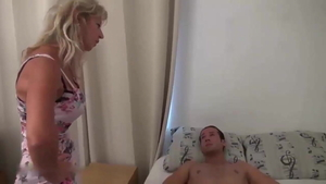 Rough nailing accompanied by sexy french MILF