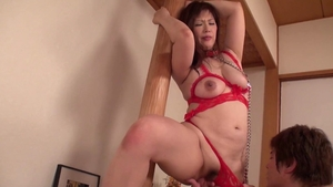Asian Reiko Shimura bound at the party in HD