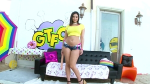Gagging with Violet Star accompanied by Violet Starr