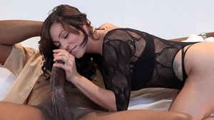 Inked Harlow Harrison cowgirl sex cock sucking