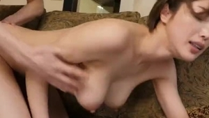 Cumshot together with huge tits asian stepmother
