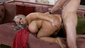 Pussy fucking together with large boobs stepmom Alura Jenson