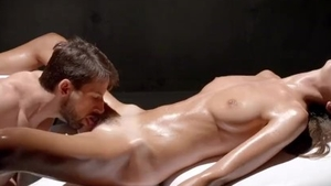 Trimmed pussy and perky Charlotta Phillip massage