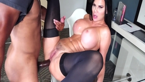 Ramming hard in the company of ebony brunette Jasmine Jae
