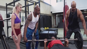 Chloe Temple nailed by BBC Prince Yahshua in the gym