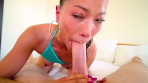 Petite Kalina Ryu cumshot interracial sex
