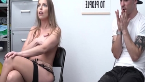 Britney Amber in stockings caught ass fucking