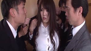 Busty asian babe Hitomi Tanaka craving raw hard sex in office