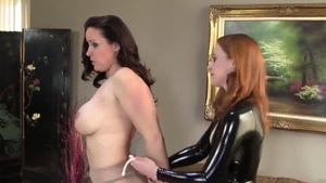 BDSM escorted by beautiful american brunette