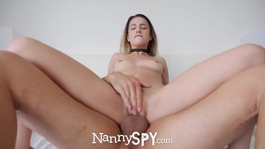 Brunette feels up to sucking cock HD