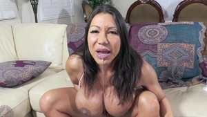 Solo large tits Ava Devine asian MILF pussy fucking