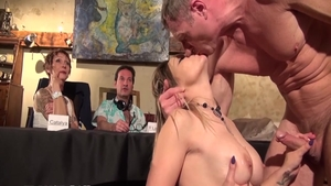 Sloppy fucking with classy french chick