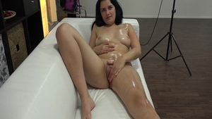 Perfect babe licks penis at the casting