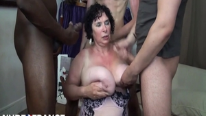 Big ass granny lusts 3some HD