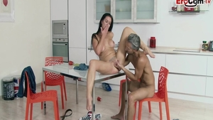 Horny deutsch mature feels in need of hard nailining