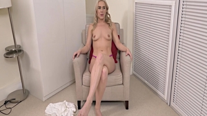 Pussy fucking during interview HD