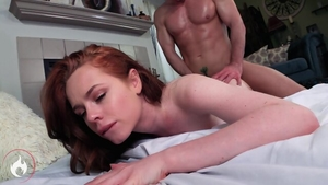 Redhead feels up to sex scene