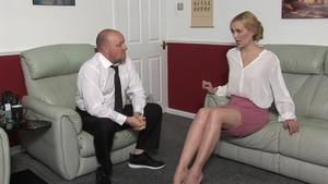 Blonde babe wishes punishment in HD