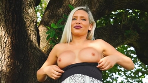 Big tits female in public HD