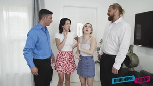 Fantasy hard fucking escorted by Aria Banks and Riley Jean