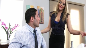 Blonde hair Alexis Texas hard cumshot in office