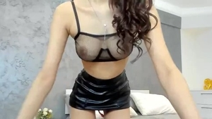 Fingering live on cam asian in latex in HD